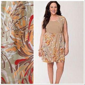 Lane Bryant Sleeveless Faux Wrap Floral Dress